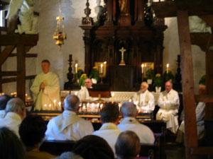 Passionisten in kapel PaterKarel