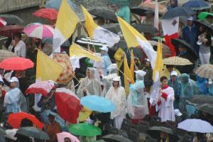 Pater Karel-vlaggen op het SintPietersplein